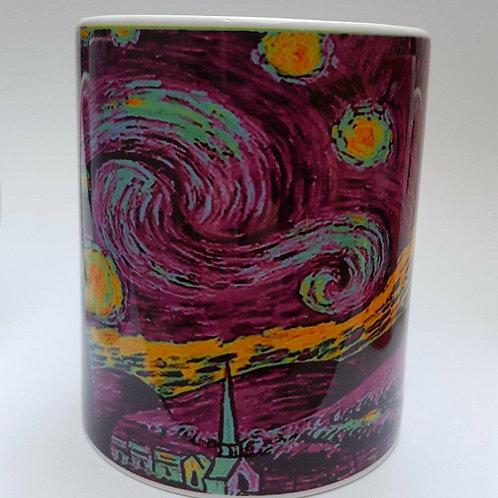 """Taza personalizada """"Van Gogh morado"""""""