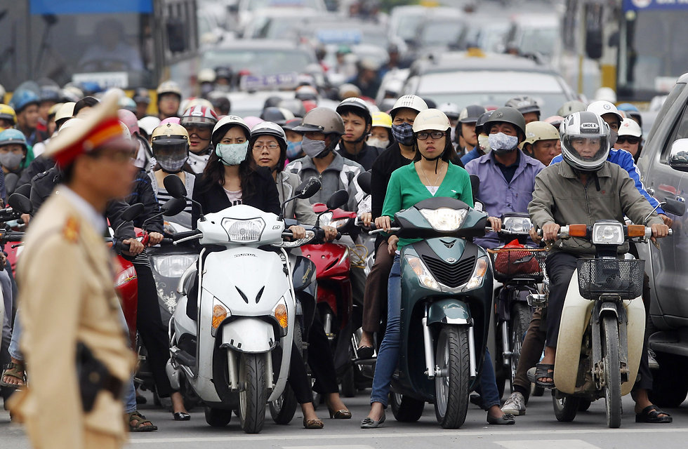 Vietnam Motorcycle rush hour
