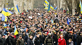 A mass movement in favor of change in Ukraine