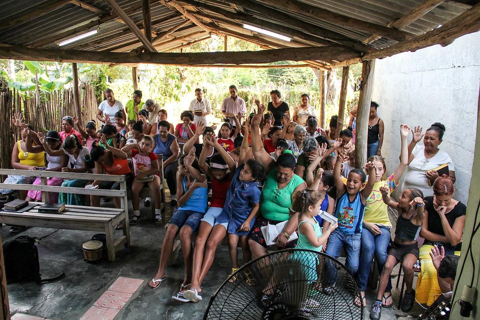 Church meeting in cuba
