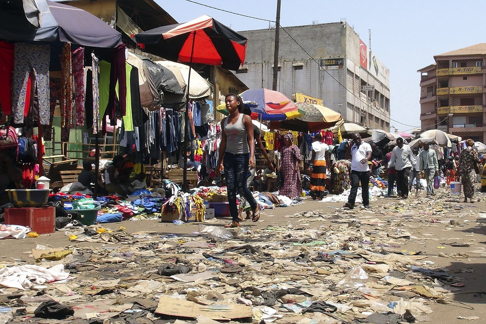 Streets filled with trash in Liberia