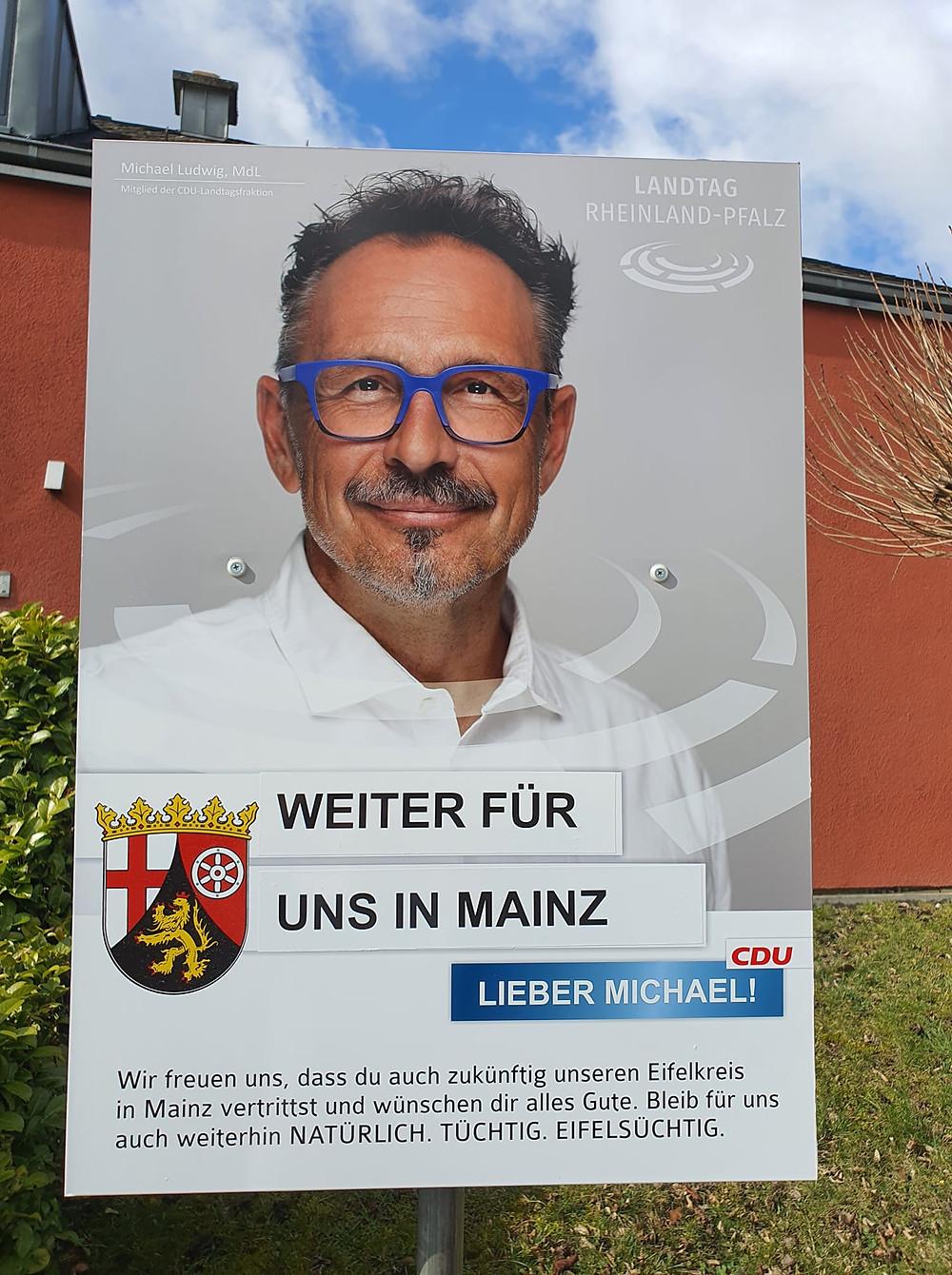 Michael Ludwig bleibt ein Mitglied des Landtags Rheinland-Pfalz
