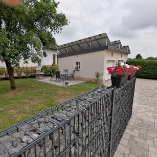 Terrasse Ferienwohnung Dreiländerheck Habscheid Eifel