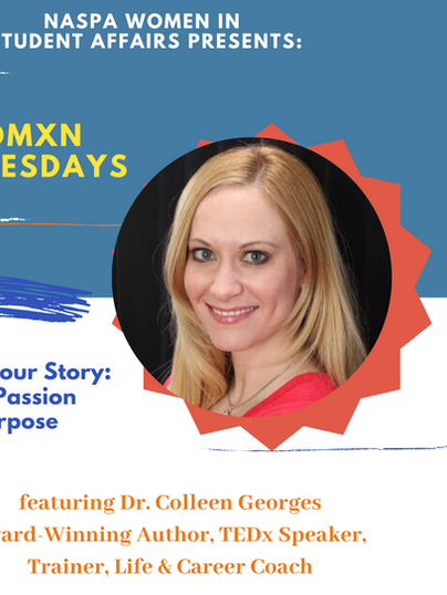 Womxn Wednesdays featuring award winning author Dr. Colleen Georges