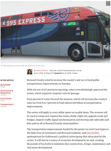 Broward County passes 'penny tax' to fund public transportation