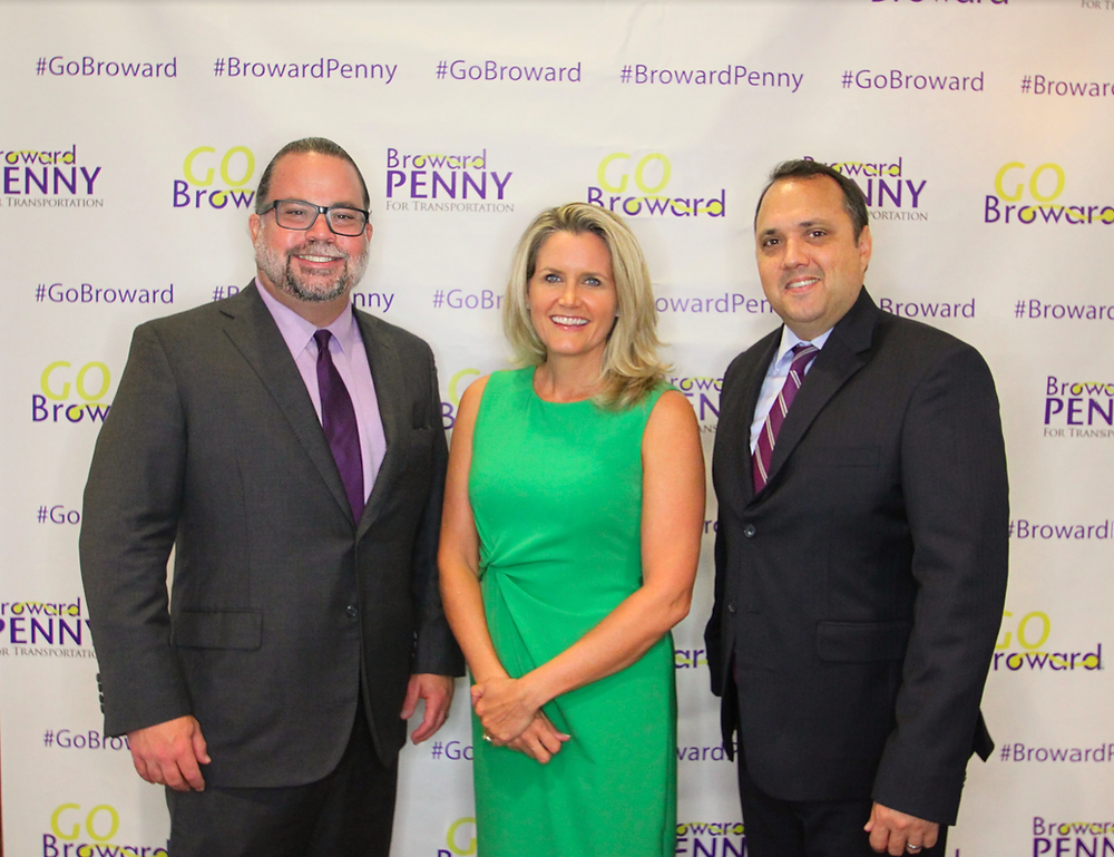 Go Broward greeted guests with #BrowardPenny step and repeat