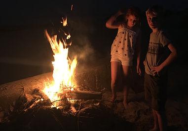 A summer bonfire