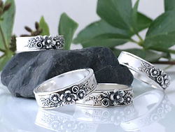 English Country Garden Rings by Faye Benjamin