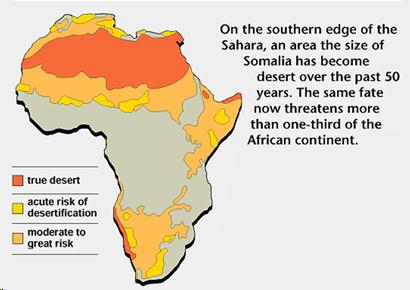 Desertification in Africa (FAO, 1990)
