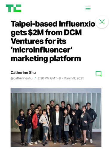 Taipei-based Influenxio gets $2M from DCM Ventures for its 'microinfluencer' marketing platform