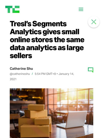 Tresl's Segments Analytics gives small online stores the same data analytics as large sellers
