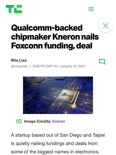 Qualcomm-backed chipmaker Kneron nails Foxconn funding