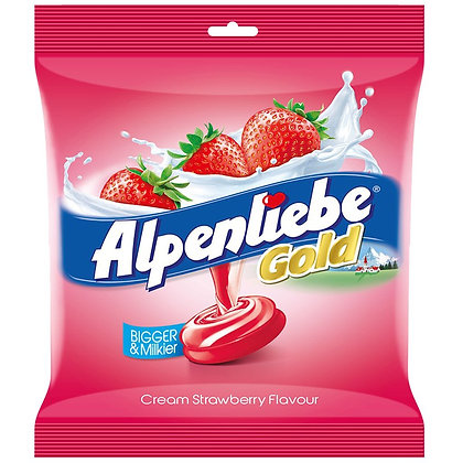 Alpenliebe Gold Candy, Cream Strawberry Flavour, 440g (100 pieces)