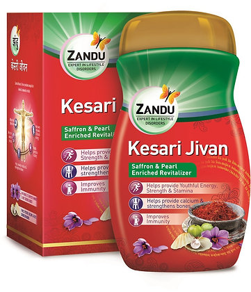 Roll over image to zoom in Zandu Kesari Jivan - 450g
