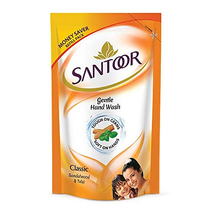 Santoor Hand Wash Classic Refill Pack, 180 ml