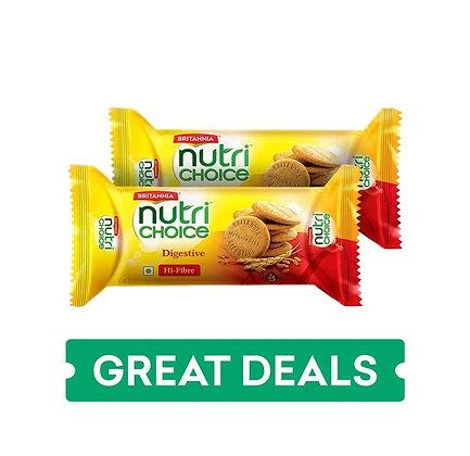 NutriChoice Digestive Hi Fiber Biscuit Pack of 5