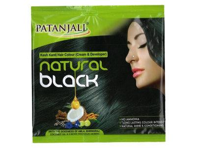 KESH KANTI HAIR COLOUR (CREAM & DEVELOPER) - NATURAL BLACK 40 GM