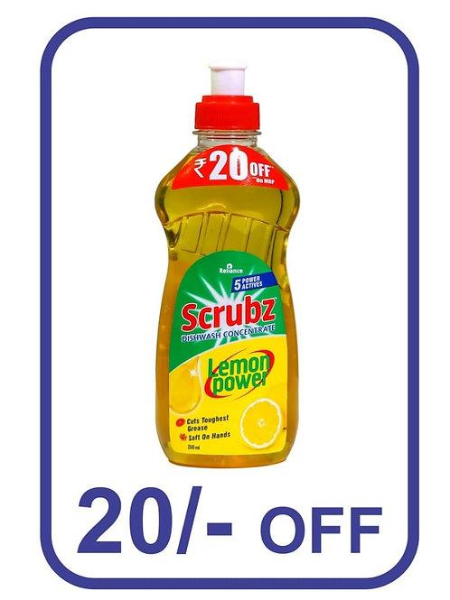 Reliance scrubz lemon power dishwash liquid 250 ml
