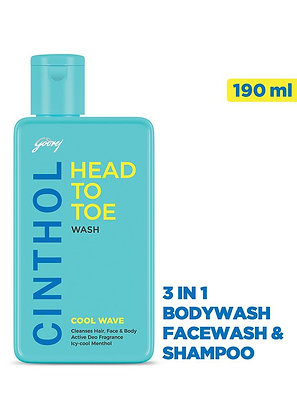 Head To Toe Cool Wave 190ml