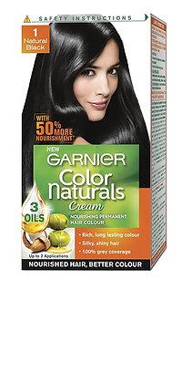 Garnier Color Naturals Cream, Natural Black 1, Mini 35ml+30g