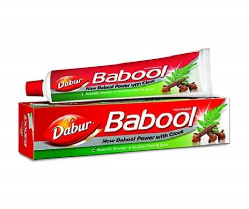 Dabur Babool Toothpaste for Strong Teeth - 175 gm with Toothbrush