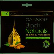 Garnier Black Naturals Oil Enriched Cream Hair Colour - 1.0 Deep Black