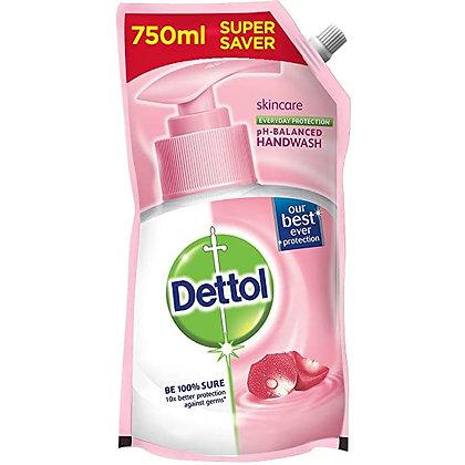 Dettol Skincare Germ Protection Handwash Liquid Soap Refill, 750ml