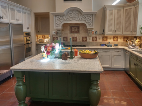 Transforming a kitchen with only a partial cabinet repaint!