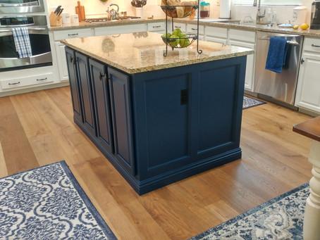 Kitchen Cabinet and Island Transformation