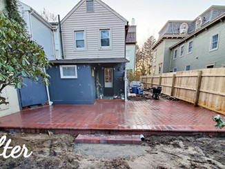 After Patio Replacement and Drainage Solution Installation