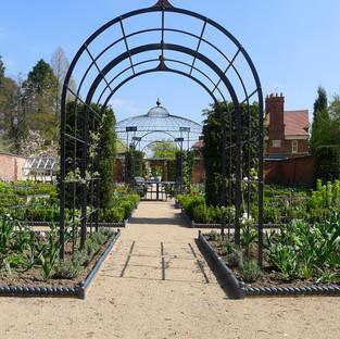 Walled Flower Garden & Walkways