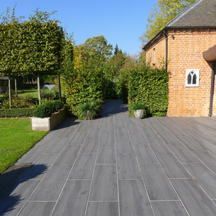 Timber Effect Porcelain Patio.