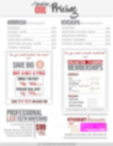 Copy of Photographer Price List Template