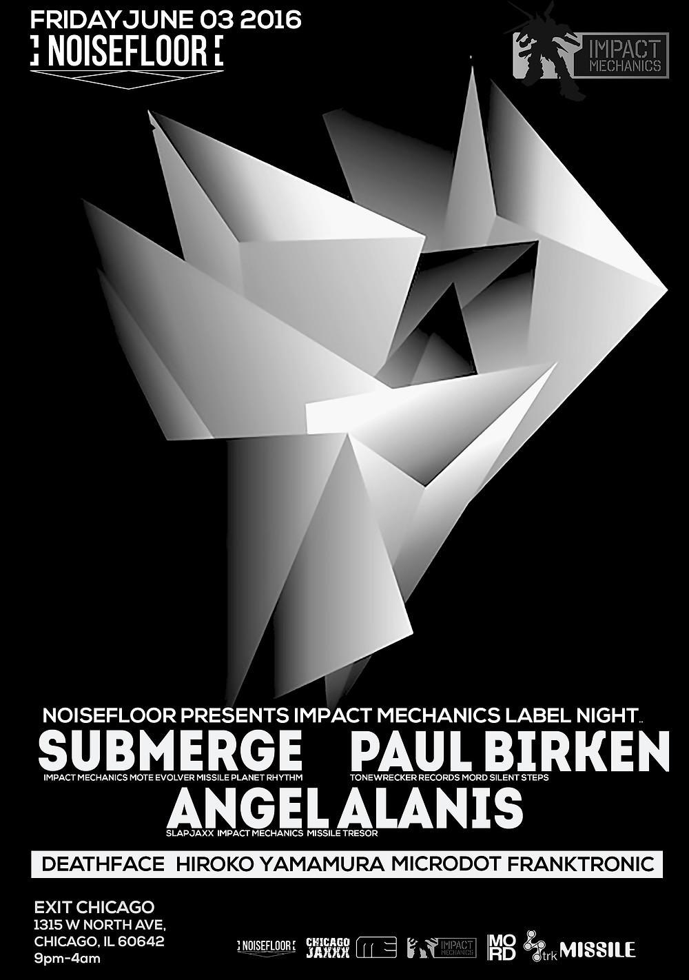 Submerge, Impact Mechanics, Noisefloor, Paul Birken