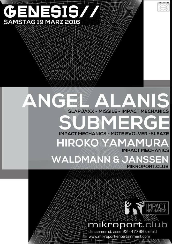 GENESIS NIGHT W/ ANGEL ALANIS, HIROKO YAMAMURA, SUBMERGE