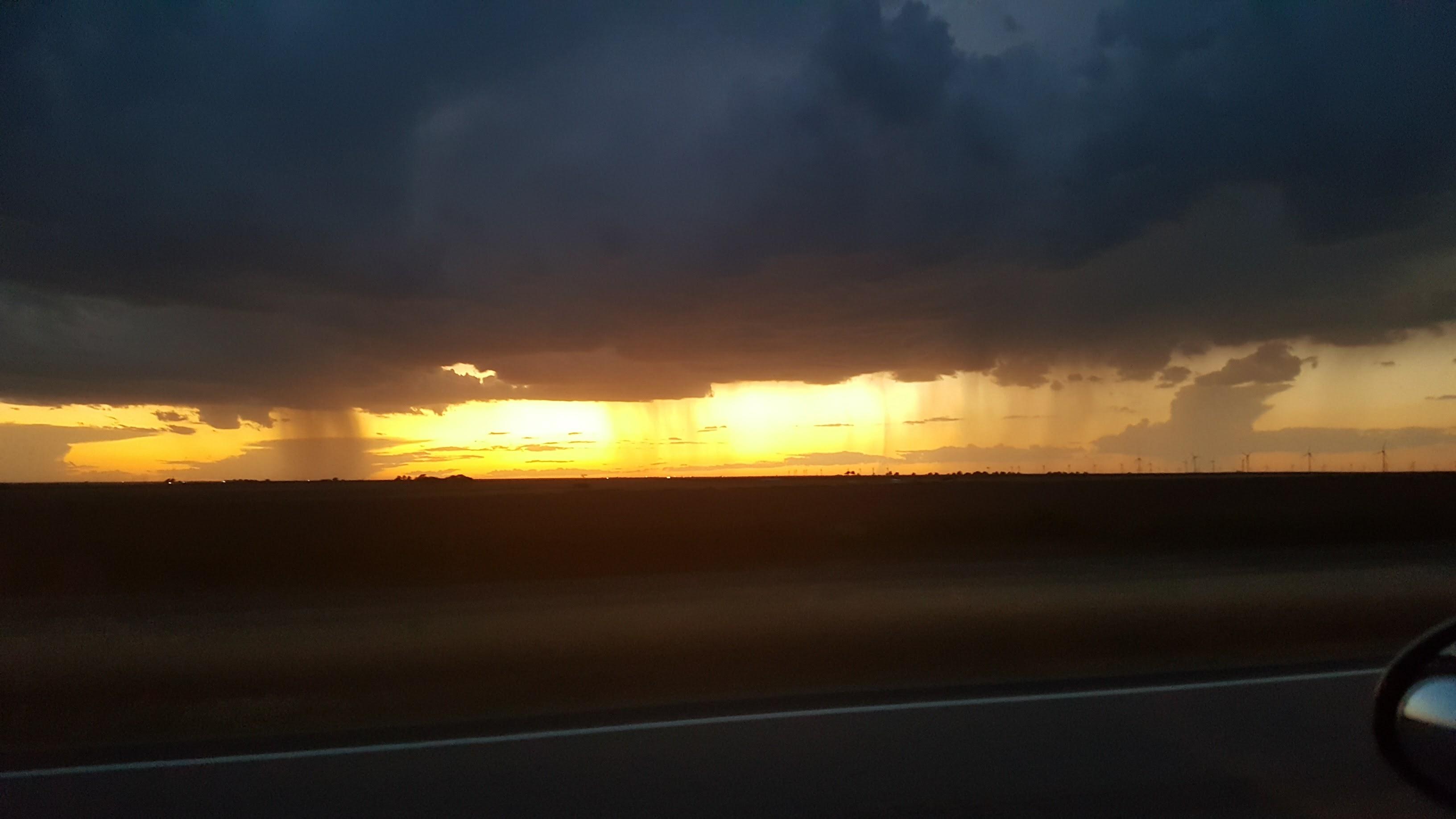 Rain Storm at dusk