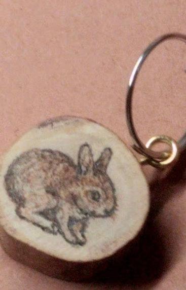 キーホルダーウサギ
