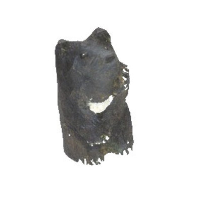 木彫りのミニ招きグマ