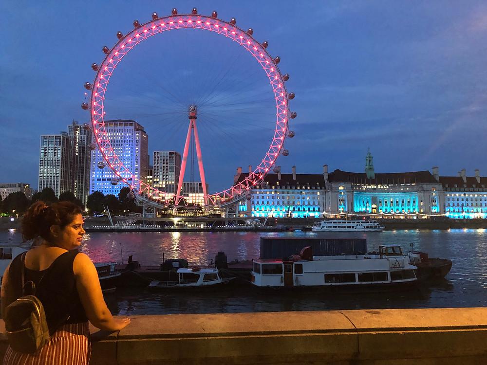 Coco Cola London Eye at night
