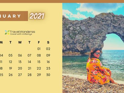 TravelWonderss: Calendar 2021