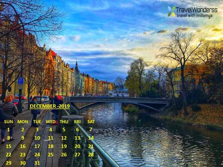 December 2019 Calendar by TravelWonderss-travel with imRamya