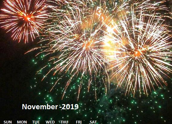 Calendar: TravelWonderss-November 2019 calendar