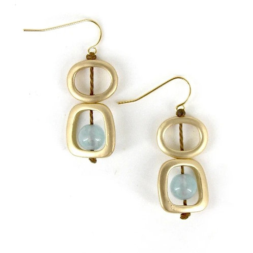 gold geo earrings to match 410 necklace