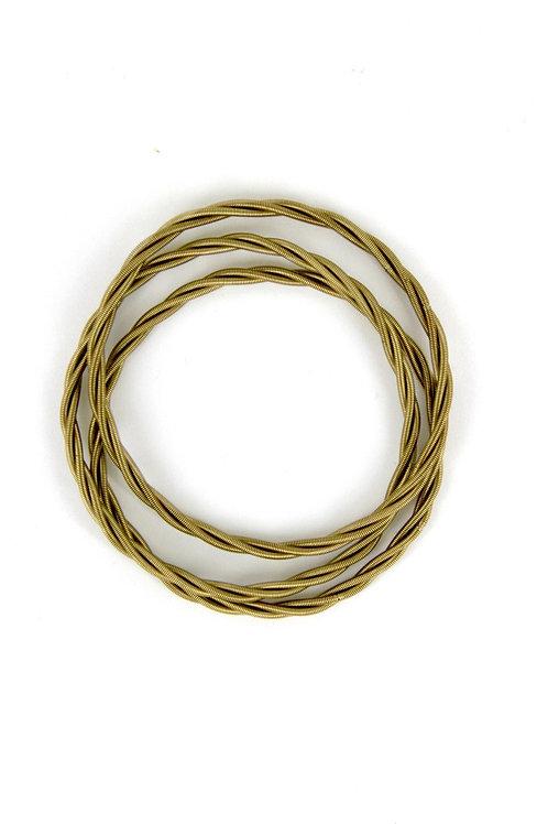 bronze unbound twist bracelets