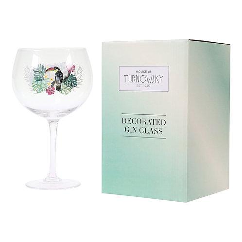 TURNOWSKY TOUCAN GIN GLASS IN BOX
