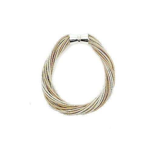 champagne/silver twist bracelet