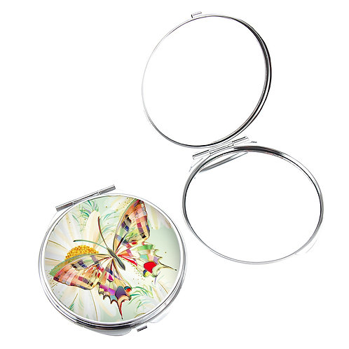 TURNOWSKY  BUTTERFLY COMPACT MIRROR IN BOX