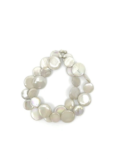 mother of pearl bracelet taupe