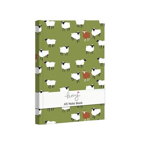PEONY SHEEP A5 NOTEBOOK, Min Qty: 6