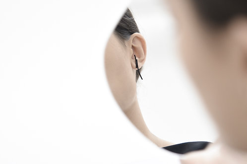 Crescent Ear Studs Matte Black
